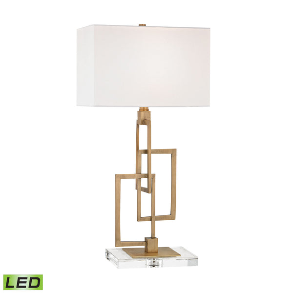 Beautiful Dimond Lighting Duet LED Table Lamp