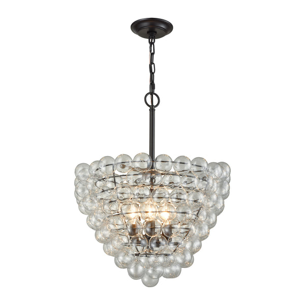 Beautiful Dimond Lighting  Cuvee Chandelier - Small  in  Glass, Metal