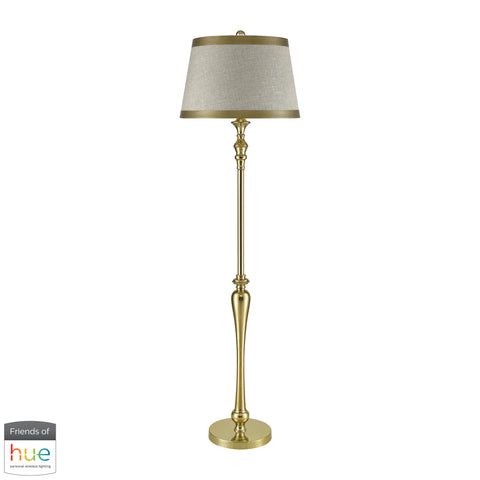 Beautiful Dimond Lighting  Figueroa Floor Lamp - with Philips Hue LED Bulb/Dimmer  in  Fabric, Metal