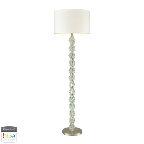 Beautiful Dimond Lighting  Helsinki Floor Lamp - with Philips Hue LED Bulb/Dimmer  in  Composite, Metal, Faux Silk