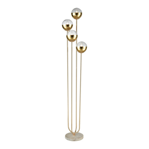 Beautiful Dimond Lighting  Haute Floreal Floor Lamp  in  Glass, Marble, Metal