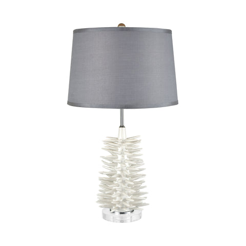 Beautiful Dimond Lighting  Barb Table Lamp  in  Handmade Ceramic, Crystal