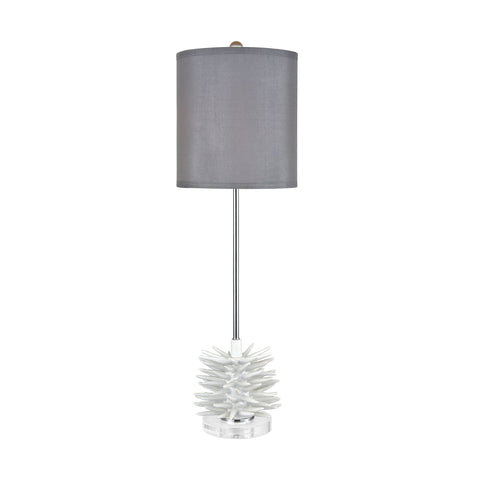 Beautiful Dimond Lighting  Barb Buffet Lamp  in  Handmade Ceramic, Crystal