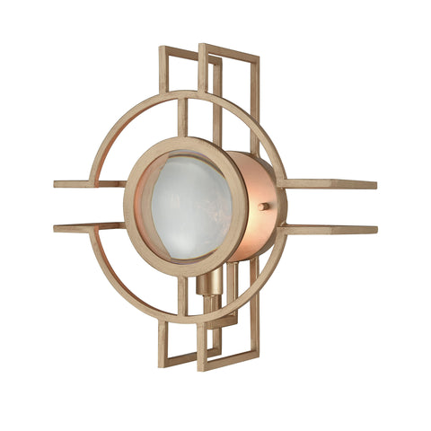 Beautiful Dimond Lighting  Lens Flair Wall Sconce  in  Crystal, Metal