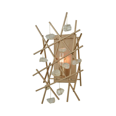 Beautiful Dimond Lighting  Massive Impact Wall Sconce  in  Metal, Rock Crystal