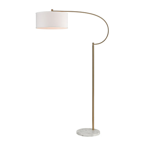 Beautiful Dimond Lighting  Gamma Floor Lamp  in  Metal, Marble