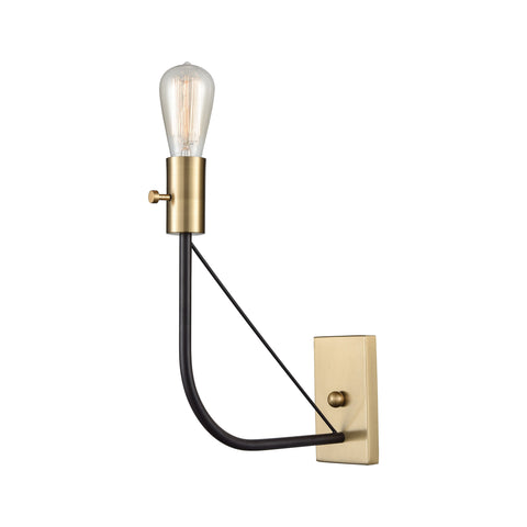 Beautiful Sterling  Rope Dart Wall Sconce  in  METAL