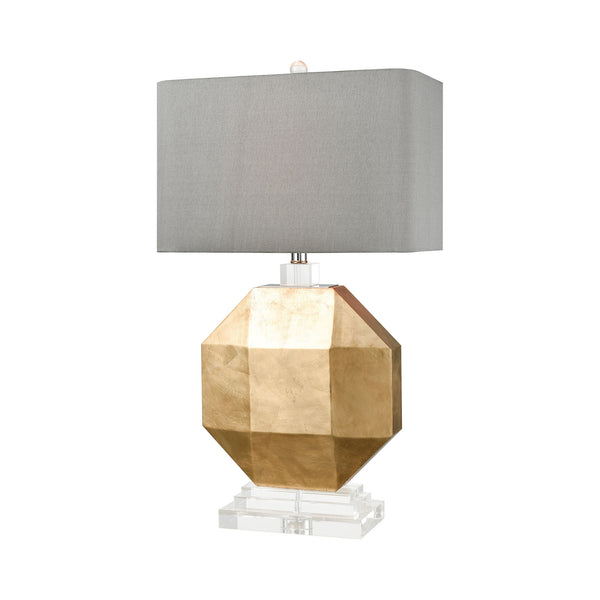 Beautiful Dimond Lighting  Alcazaba Table Lamp  in  WOOD, CRYSTAL