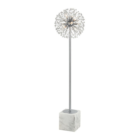 Beautiful Dimond Lighting  Gone With the Wind Floor Lamp  in  METAL, CRYSTAL, MARBLE