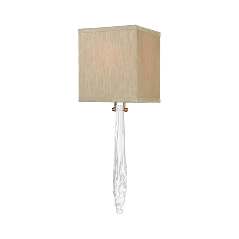 Beautiful Dimond Lighting  Melt Down Wall Sconce  in  GLASS, METAL