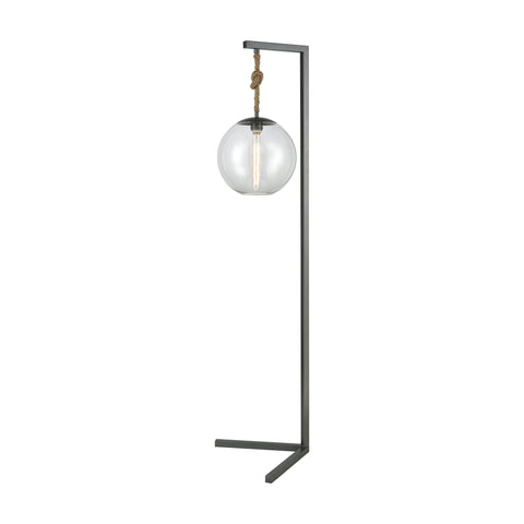 Beautiful Dimond Lighting  Haute Collar Floor Lamp  in  METAL, GLASS, ROPE