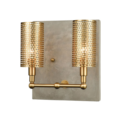 Beautiful Dimond Lighting  Fuego Wall Sconce  in  Concrete, Metal