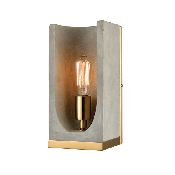 Beautiful Dimond Lighting  Shelter Wall Sconce  in  Concrete, Metal