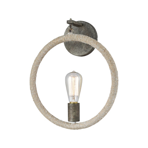 Beautiful Dimond Lighting  Lasso Wall Sconce  in  Metal, Rope
