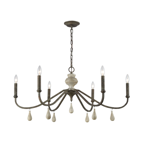 Beautiful Dimond Lighting  French Connection Chandelier  in  Metal, Wood