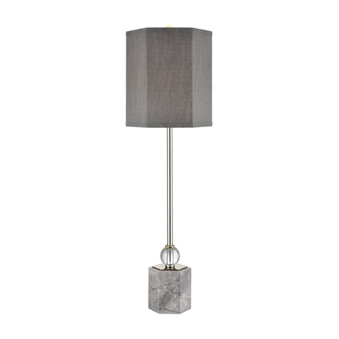 Beautiful Dimond Lighting  Discretion Buffet Lamp  in  Crystal, Marble, Metal