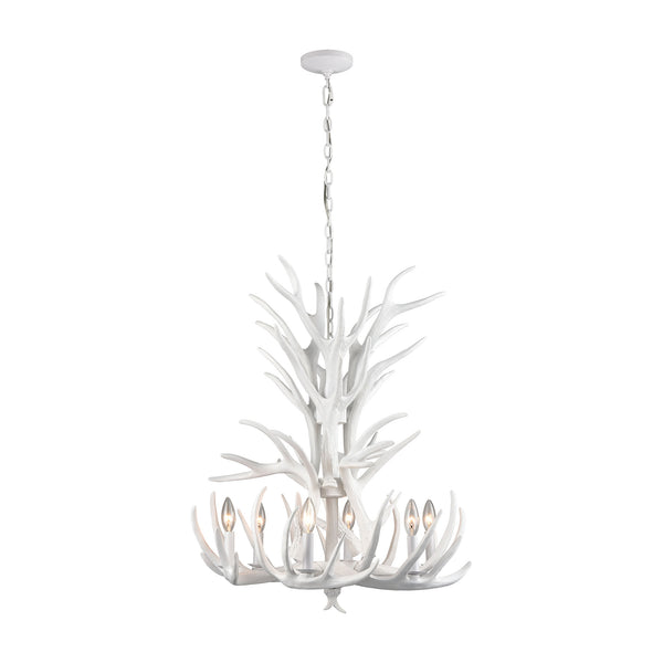 Beautiful Dimond Lighting  Big Sky Tall 6-Light Chandelier  in  Composite, Crystal