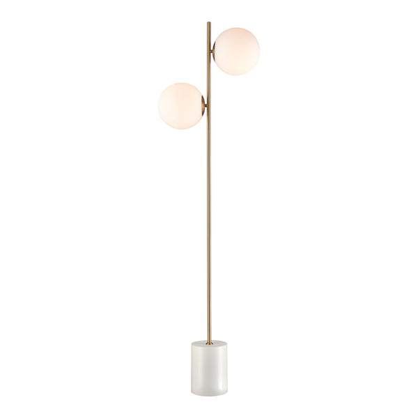Beautiful Dimond Lighting  Moondance Floor Lamp  in  Glass, Metal