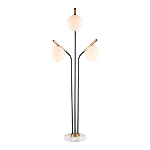 Beautiful Dimond Lighting  Crooner Floor Lamp  in  Glass, Marble, Metal