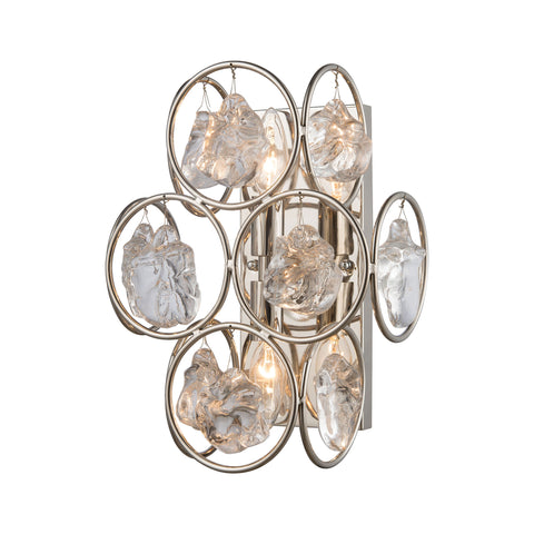 Beautiful Dimond Lighting  Precious Wall Sconce  in  Glass, Metal
