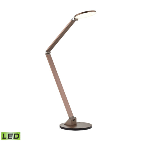 Beautiful Dimond Lighting Cobra LED Desk Lamp In Rose Gold