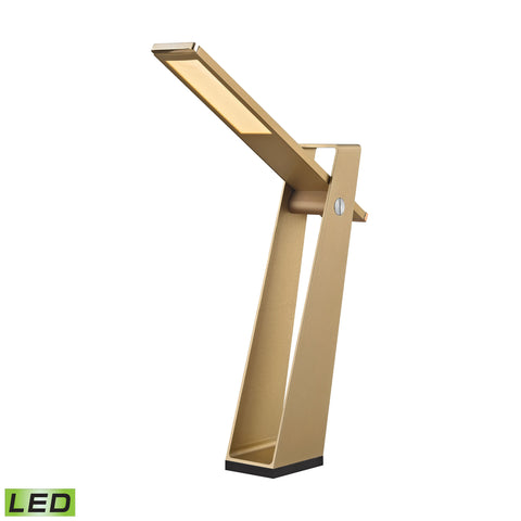 Beautiful Dimond Lighting Tilt 5 Watt LED Desk Lamp In Gold