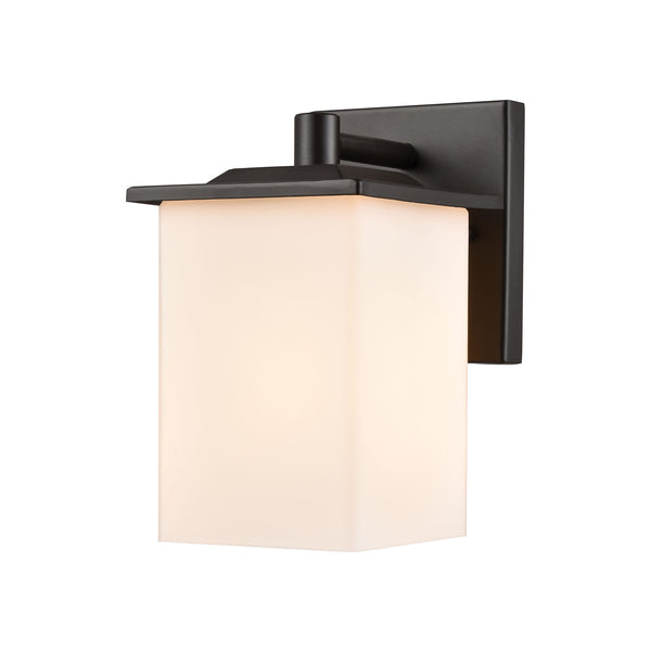 Thomas Lighting  Broad Street 1-Light Exterior Wall Sconce in Textured Black  1 x 60W 120