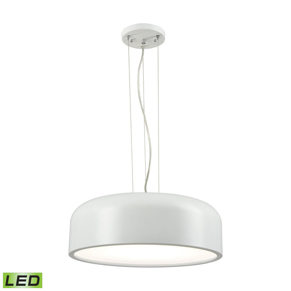 ELK Lighting  1 Light LED Pendant in White with Acrylic Diffuser