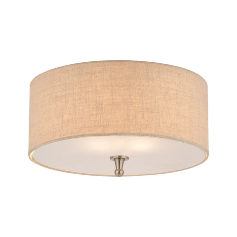 Thomas ALLURE ceiling lamp Brushed Nickel 2x60
