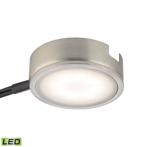 Thomas Tuxedo 1 Light LED Undercabinet Light In Satin Nickel With Power Cord And Plug