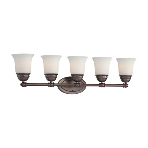 Thomas Lighting  Bella 5-Light Wall Lamp in Oiled Bronze  5 x 100W 120