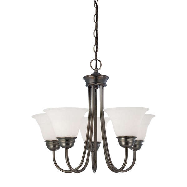 Thomas BELLA chandelier Oiled Bronze 5x100W 120