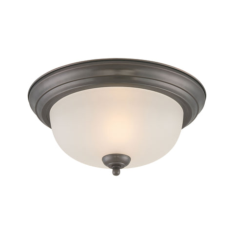 Thomas Lighting  Pendenza 2-Light Ceiling Lamp in Oiled Bronze  2 x 60W