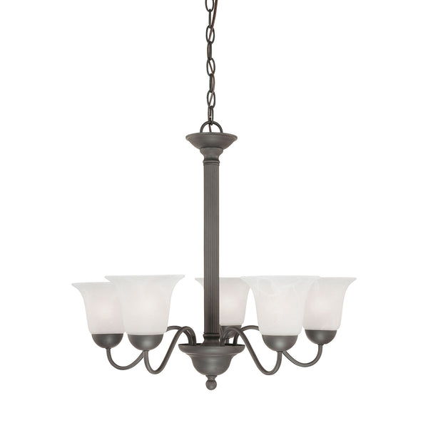 Thomas Lighting  Riva 5-Light Chandelier in Painted Bronze  5 x 100W
