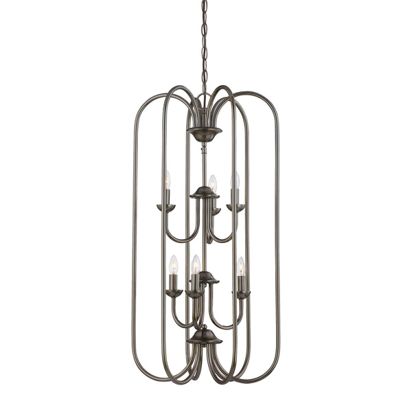 Thomas BELLA chandelier Oiled Bronze 6x60W 120