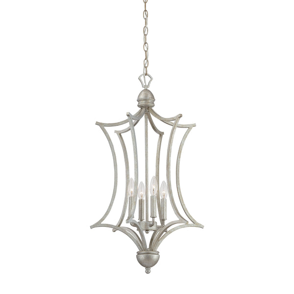 Thomas Lighting  Triton 4-Light Chandelier in Moonlight Silver  4 x 60W