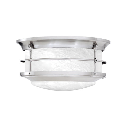 Thomas Lighting  Newport 2-Light Ceiling Lamp in Brushed Nickel  2 x 60W