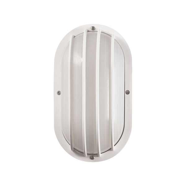 Thomas Lighting  Essentials 1-Light Outdoor Wall Sconce in White  1 x 60W 120