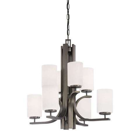 Thomas Lighting  Pendenza 8-Light Chandelier in Oiled Bronze  8 x 100W