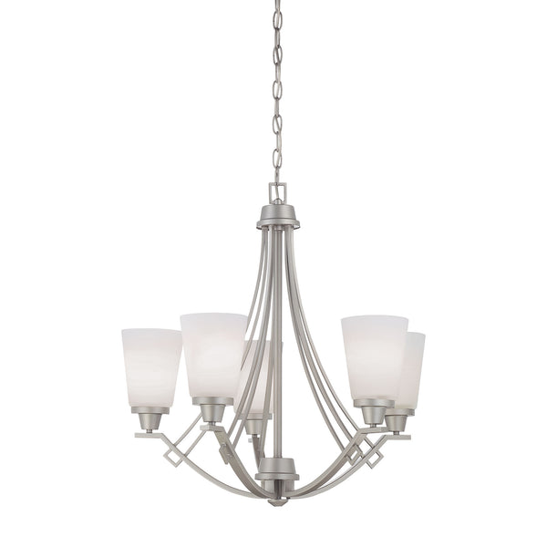 Thomas Lighting  Wright 5-Light Chandelier in Matte Nickel  5 x 100W