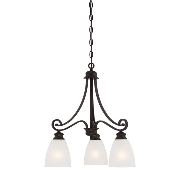 Thomas Lighting  Haven 3-Light Chandelier in Espresso  3 x 100W 120