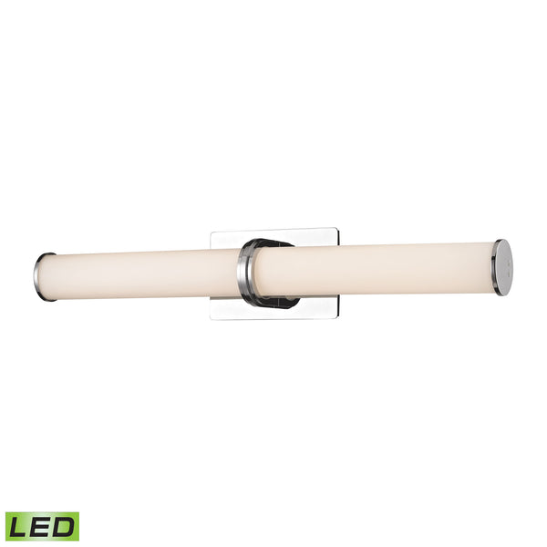Baton 2 Light LED Wall Sconce In Chrome And White Opal Glass