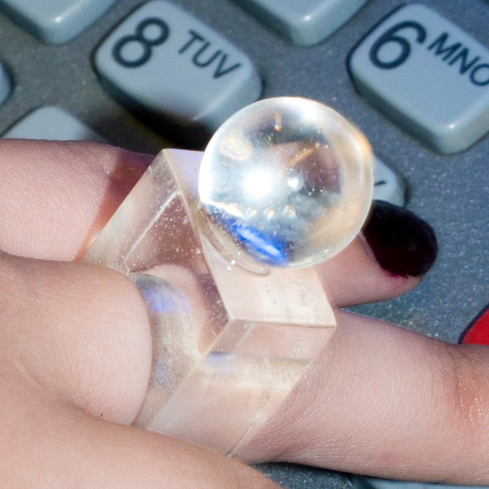 Lucite Orb Ring