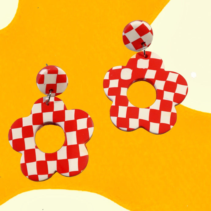 Checkerboard Earrings