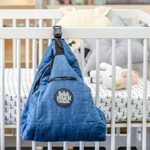 the Bebé Pouch. The Bebe Pouch is an innovative carry-all nappy bag & padded play mat in one!