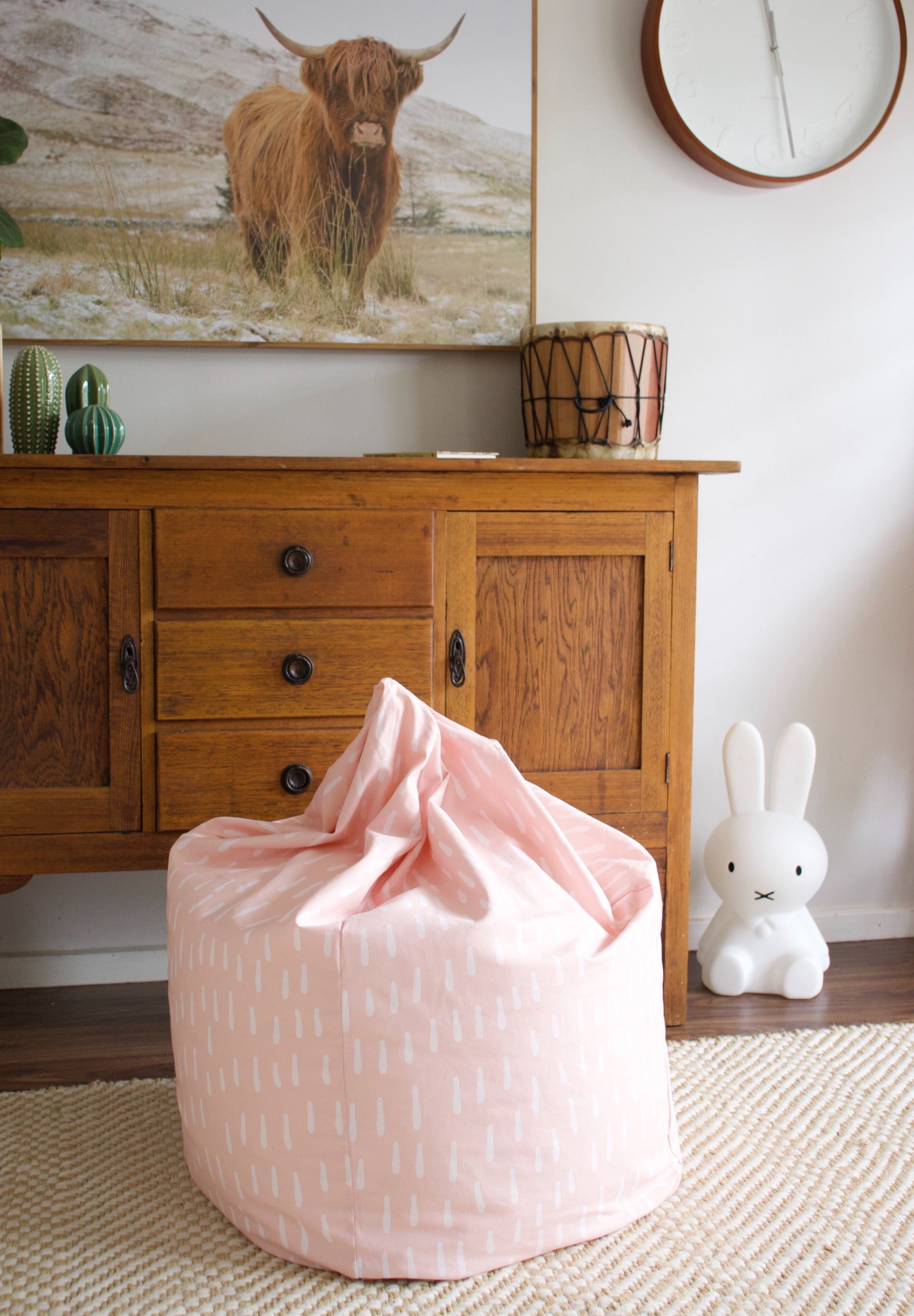 Raindrops Bean Bag - Pink