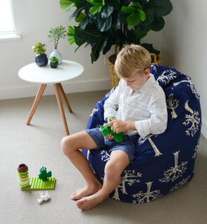 Orchard Navy Bean Bag