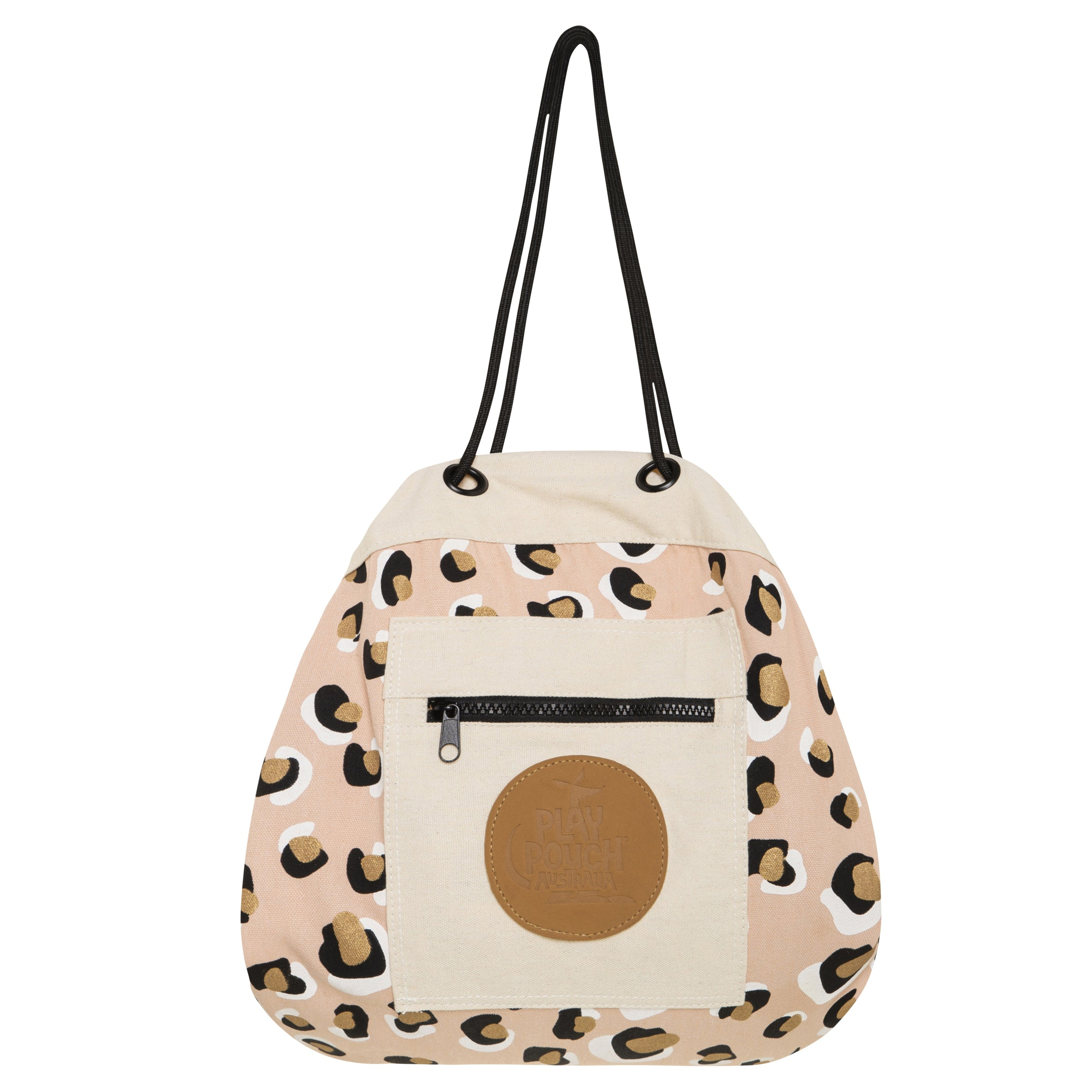 Leopard Gold Mini Pouch