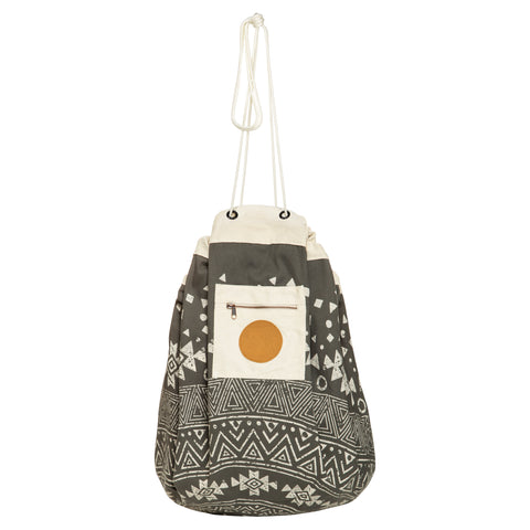 Tribal Printed Play Pouch in Charcoal