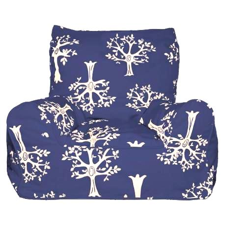 Navy Orchard Bean Chair